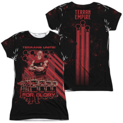 Image for Star Trek the Next Generation Mirror Universe Girls Sublimated T-Shirt - Terrans Unite