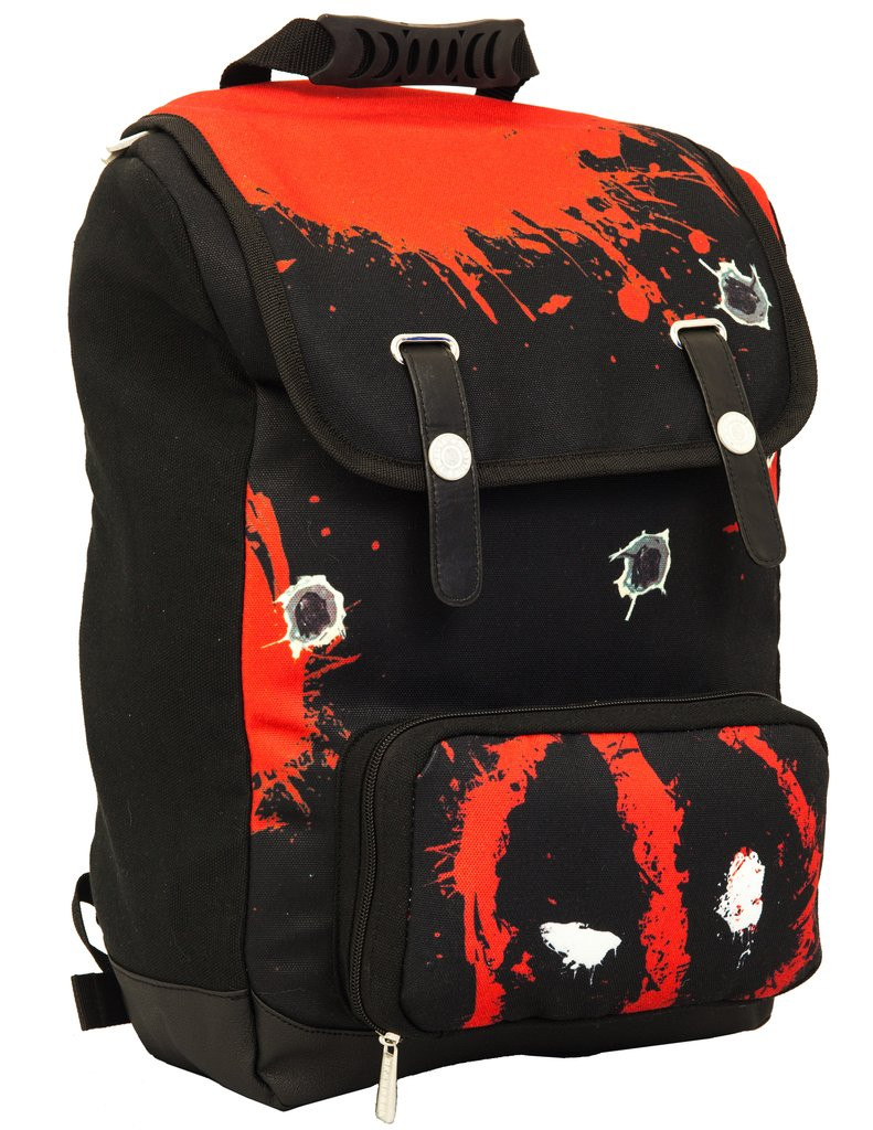 20d2e797091c Deadpool 12 Bullet Splatter Canvas Backpack