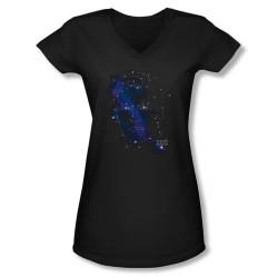 Image for Star Trek Girls V Neck - Kirk Constellations