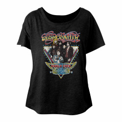 Image for Aerosmith World Tour Juniors Dolman Top