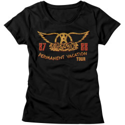 Image for Aerosmith Girls T-Shirt - Permanent Vacation Tour 87
