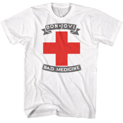 Image for Bon Jovi T-Shirt - Bad Medicine White