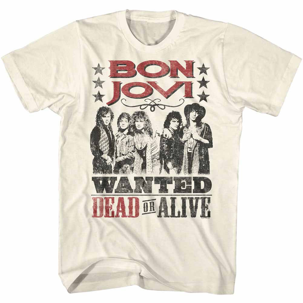 456ef738 Bon Jovi T-Shirt - Wanted Dead or Alive