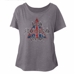 Image for Def Leppard Pour Some Triangle Juniors Dolman Top