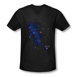 Image for Star Trek T-Shirt - V Neck Spock Constellations