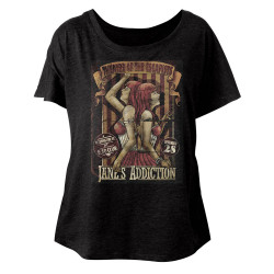 Image for Jane's Addiction Siamese Twins Juniors Dolman Top