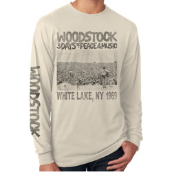 Image for Woodstock Long Sleeve T-Shirt - Poster