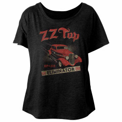 Image for ZZ Top Est. 1969 Juniors Dolman Top