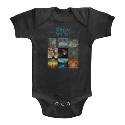 Image for Styx Album Grid Infant Baby Creeper