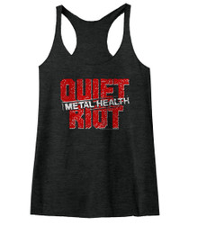 Image for Quiet Riot Metal Health Logo Juniors Racerback Tank Top