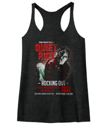 Image for Quiet Riot Rocking Out Juniors Racerback Tank Top