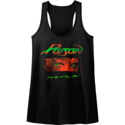 Image for Poison Open Up and Say Ahh Juniors Racerback Tank Top