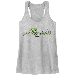 Image for Poison Logo Juniors Racerback Tank Top