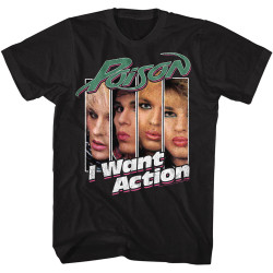 Image for Poison T-Shirt - I Want Action