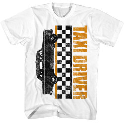 Image for Taxi Driver T-Shirt - Checkers