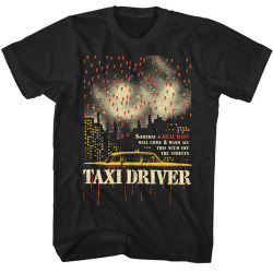 Image for Taxi Driver T-Shirt - Real Rain