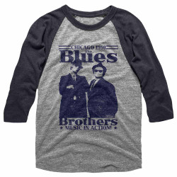 Image for The Blues Brothers 3/4 sleeve raglan - In Action