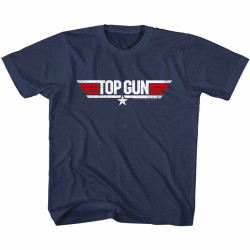 Image for Top Gun Retro Logo Youth T-Shirt