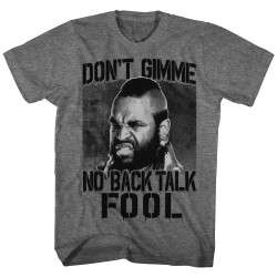 Image for Mr. T T-Shirt - No Back Talk