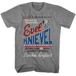 Image for Evel Knievel T-Shirt - 13 Busses