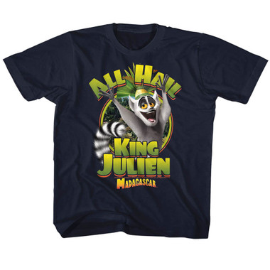 Image for Madagascar All Hail King Julian Youth T-Shirt