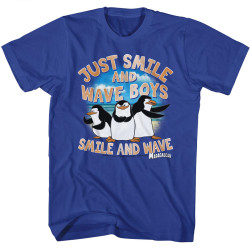 Image for Madagascar T-Shirt - Just Smile and Wave