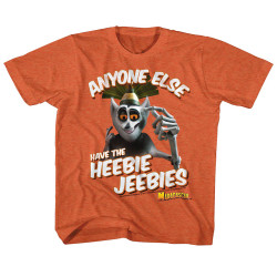 Image for Madagascar Anyone Else Have the Heebie Jeebies Youth T-Shirt