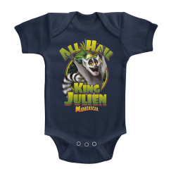 Image for Madagascar All Hail King Julian Infant Baby Creeper