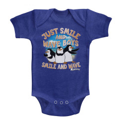 Image for Madagascar Just Smile and Wave Boys Infant Baby Creeper