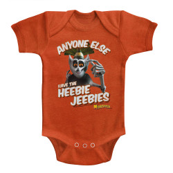 Image for Madagascar Anyone Else Have the Heebie Jeebies Infant Baby Creeper