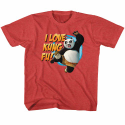 Image for Kung Fu Panda I Love Kung Fu Youth T-Shirt