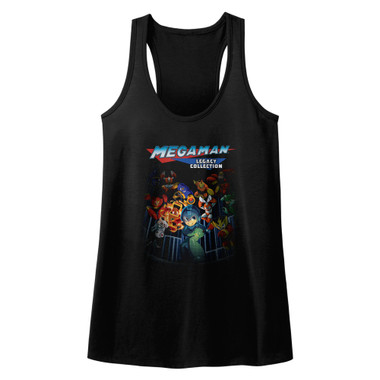 Image for Mega Man Legacy Collection Juniors Racerback Tank Top
