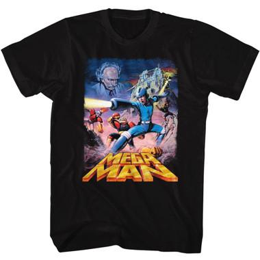 Image for Mega Man T-Shirt - Postery Megaman