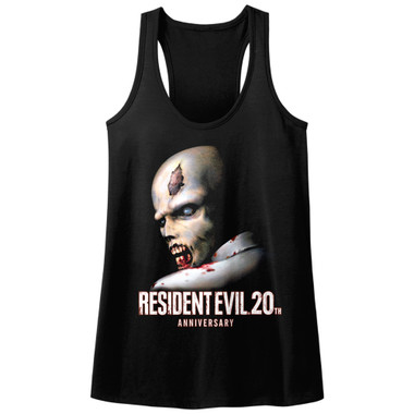 Image for Resident Evil RE 20 Juniors Racerback Tank Top