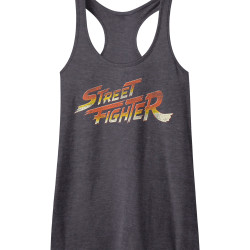 Image for Street Fighter Logo Juniors Racerback Tank Top