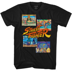 Image for Street Fighter T-Shirt - Panels