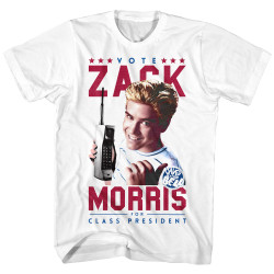 Image for Saved by the Bell T-Shirt - Vote Zack Morris