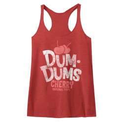 Image for Dum Dums Juniors Heather Tank Top - Cherry
