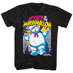 Image for The Real Ghostbusters T-Shirt - Marshmallow Attacks