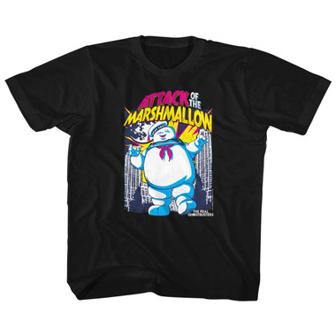 Image for The Real Ghostbusters Marshmallow Attacks Youth T-Shirt