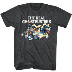 Image for The Real Ghostbusters T-Shirt - Car Chase