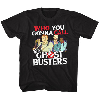 Image for The Real Ghostbusters Who You Gonna Call? Youth T-Shirt