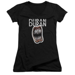 Image for Duran Duran Girls V Neck T-Shirt - Pressure Off