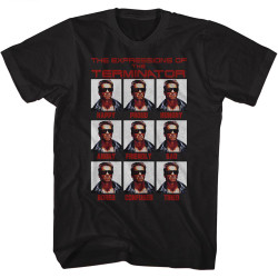 Image for Terminator T-Shirt - The Expressions of the Terminator