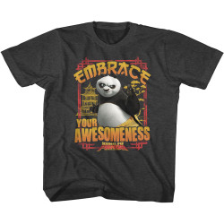 Image for Kung Fu Panda Embrace Awesomeness Youth T-Shirt