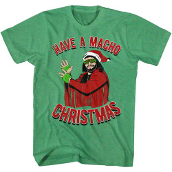 Image for Macho Man T-Shirt - Have a Macho Christmas