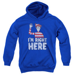 Image for Where's Waldo Youth Hoodie - I'm Right Here
