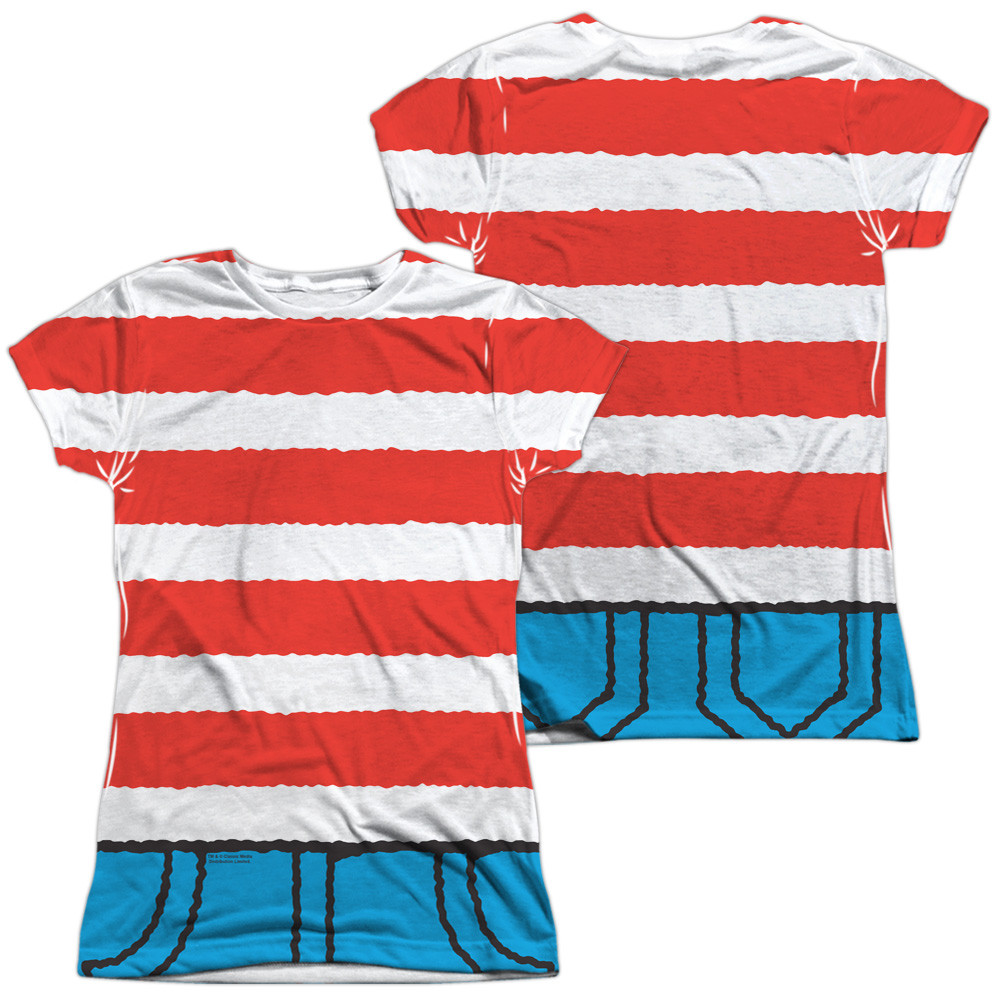 5fbbd9659e8d7 Hover over image to zoom. Image for Where s Waldo Girls Sublimated T-Shirt  ...