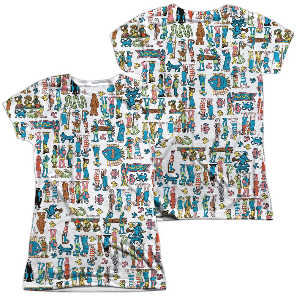 22e9e182df57 Where's Waldo Girls Sublimated T-Shirt - Figures - NerdKungFu