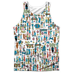 Front image for Where's Waldo Sublimated Tank Top - Figures